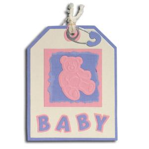 Teddy Bear Baby Tag