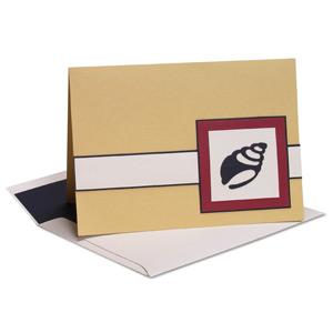 Seashell Sillouette Note Card