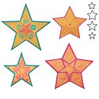 AccuQuilt Go Dies - 5 Point Star Medley by Sarah Vedeler