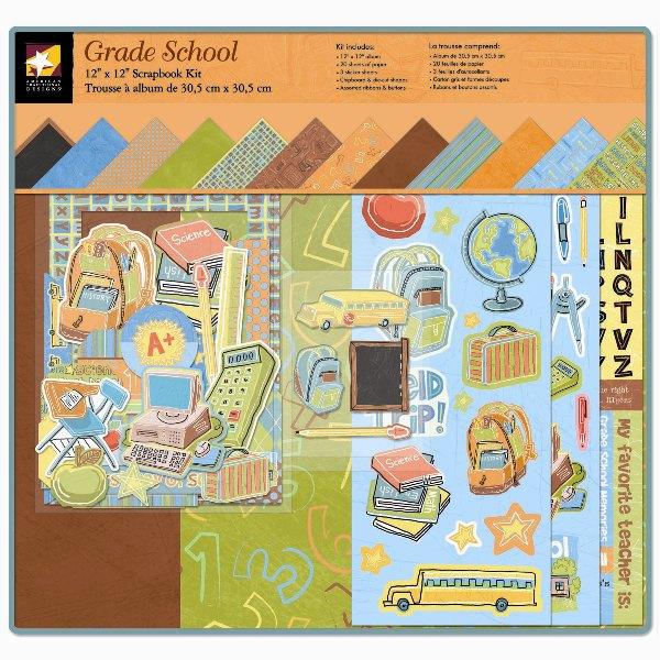 American Traditional Designs Grade School Boxed Scrapbook Kit
