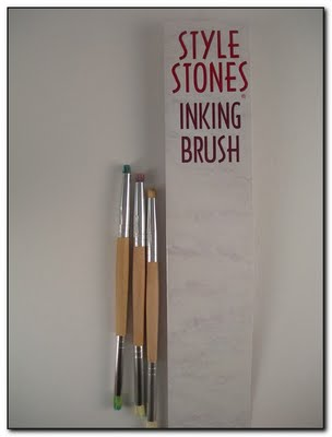 Clearsnap Ink Application Tools - Style Stones Inking Brush 3 Pk