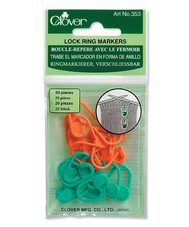 Clover Locking Stitch Ring Markers