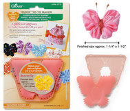 "Clover Quick Yo Yo Maker Butterfly Small 1.25""x 1.5"""