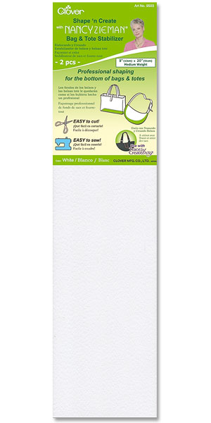 Clover Bag Accessory - Bag & Tote Stabilizer White with Nancy Zieman