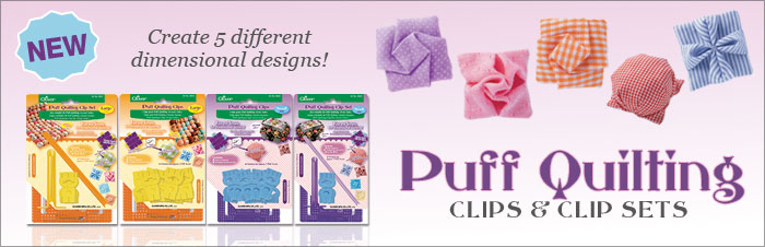 Clover Puff Quilting Clip Set - Small