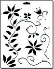 Crafter's Workshop 8 1/2x11 Template - Floral Vines