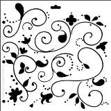 Crafter's Workshop 6x6 Template - Mini Swirly Vines