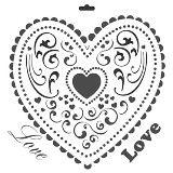 Crafter's Workshop 6x6 Template - Mini Love Heart