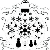 Crafter's Workshop 6x6 Template - Mini Snowflake