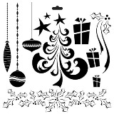 Crafter's Workshop 6x6 Template - Mini Merry Doodles Christmas