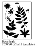 Crafter's Workshop 8 1/2x11 Template - Botanicals