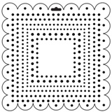 Crafter's Workshop 6x6 Template - Mini Square Dots