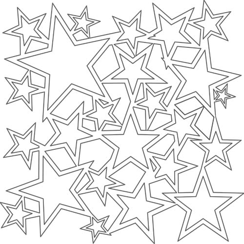 File Name  TCW170 jpg Different Size Star Stencil