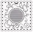 Crafter's Workshop 6x6 Template - Mini Scallop Swirls
