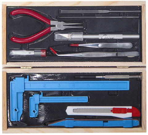 Excel Wooden Box Deluxe Airplane Tool Set