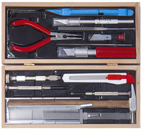Excel Wooden Box Deluxe Railroad Tool Kit