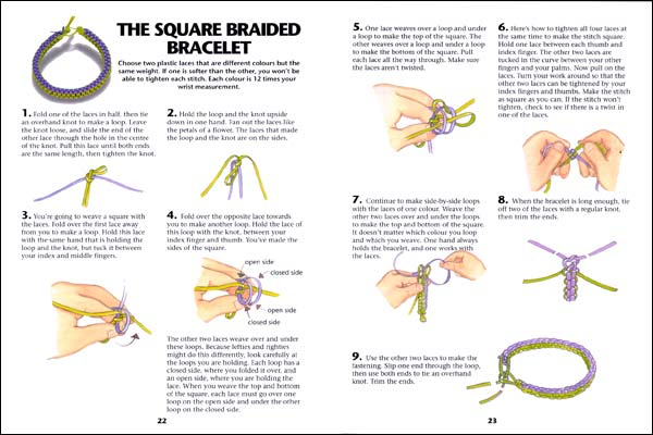 How To Make A Square Craft Lace Bracelet