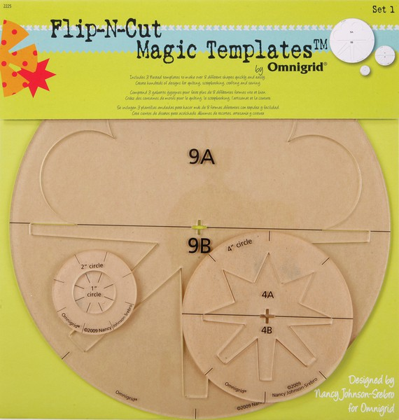 Omnigrid Flip-N-Cut Magic Templates Set 1