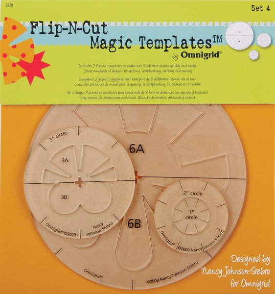 Omnigrid Flip-N-Cut Magic Templates Set 4