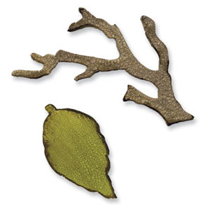 Sizzix - Movers & Shapers - Tim Holtz Dies -  Mini Branch & Leaf Set