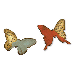 Sizzix - Movers & Shapers - Tim Holtz Dies -  Mini Butterflies Set