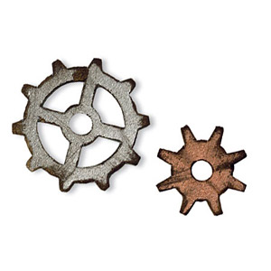 Sizzix - Movers & Shapers - Tim Holtz Dies - 2PK - Mini Gears Set