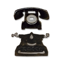 Sizzix - Movers & Shapers - Tim Holtz Dies - 2PK - Mini Telephone & Typewriter Set