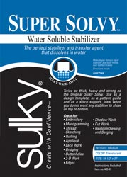 "Sulky Super Solvy Stabilizer Package 19.5""x 36"" Clear"